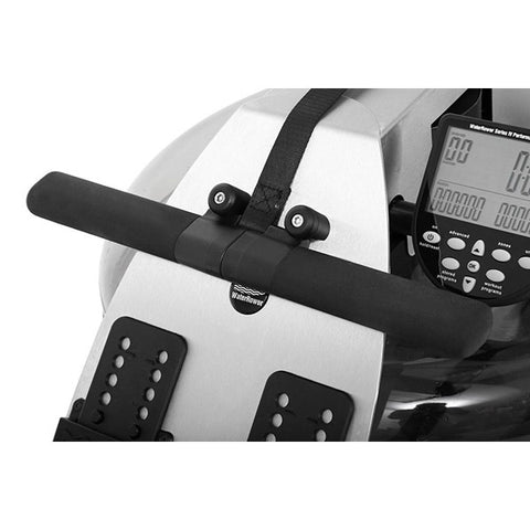 WaterRower S1 Rowing Machine Stainless Steel with S4 Monitor handle