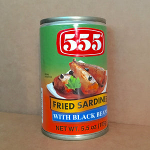 555 Fried Sardines w Black Beans (Tausi) small 5.5oz