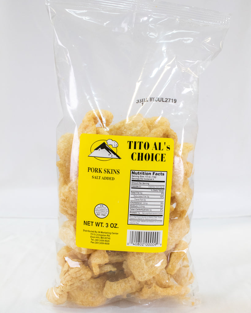Tito Al Pork Skin Chicharon 3oz