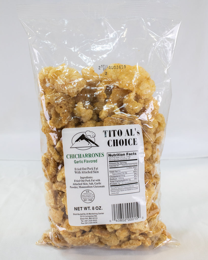 Tito Al Chicharon w Garlic 8oz