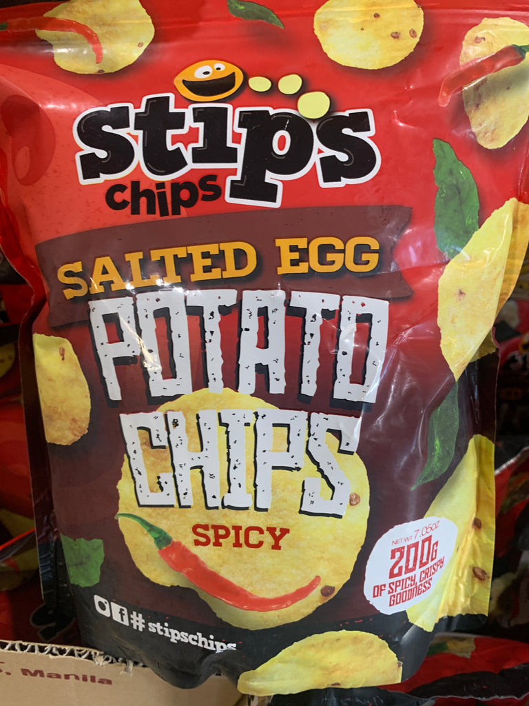 Stips Salted Egg Potato Chips Big Spicy 200g