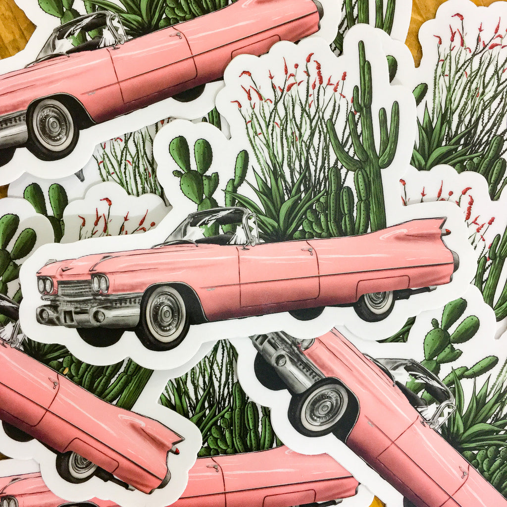 The Painted Ladies- Desert Cadillac Sticker