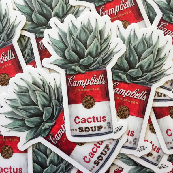 The Painted Ladies- Cactus Campbell's Sticker