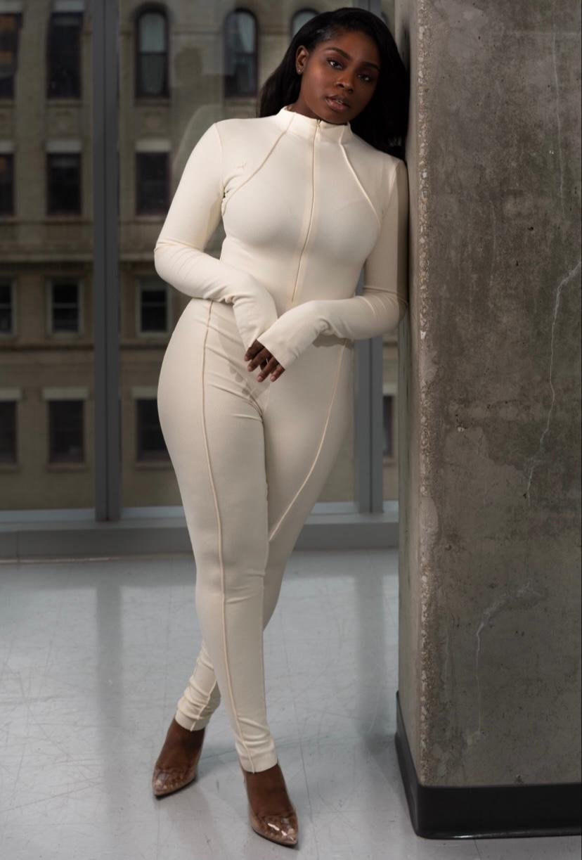 Kylie Cream Jumpsuit