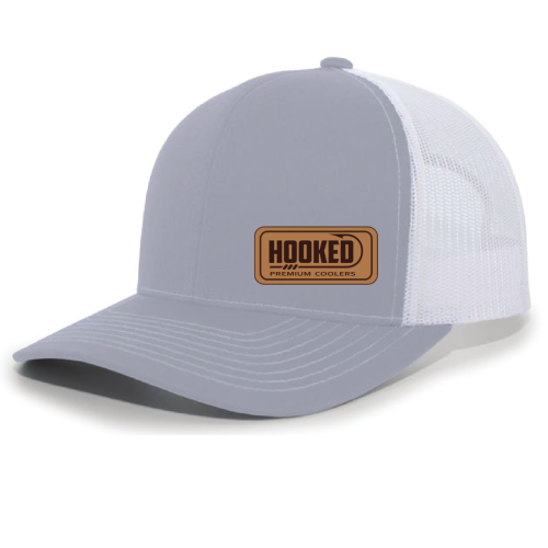 Hat - Grey Snapback Leather Patch