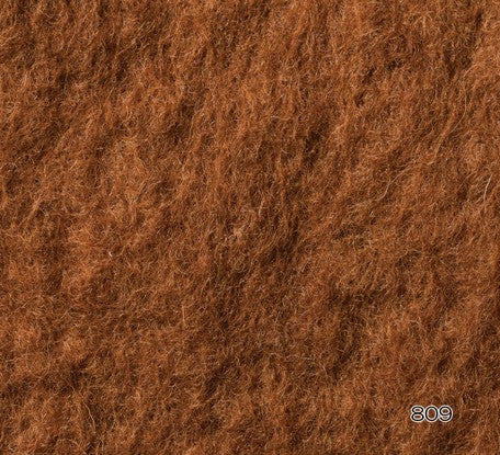 Hamanaka Natural Blend Wool Roving 40g - #809 Chocolate