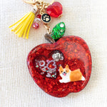 Corgi on Apple Liquid Shaker Charm