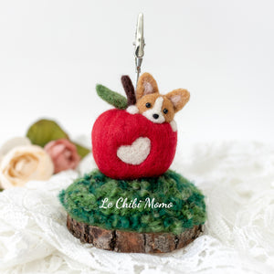 Corgi Apple Photo Stand