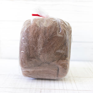 Hamanaka Natural Blend Wool Roving 40g - #804 Brown