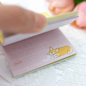 Mind Wave Corgi Sticky Notes