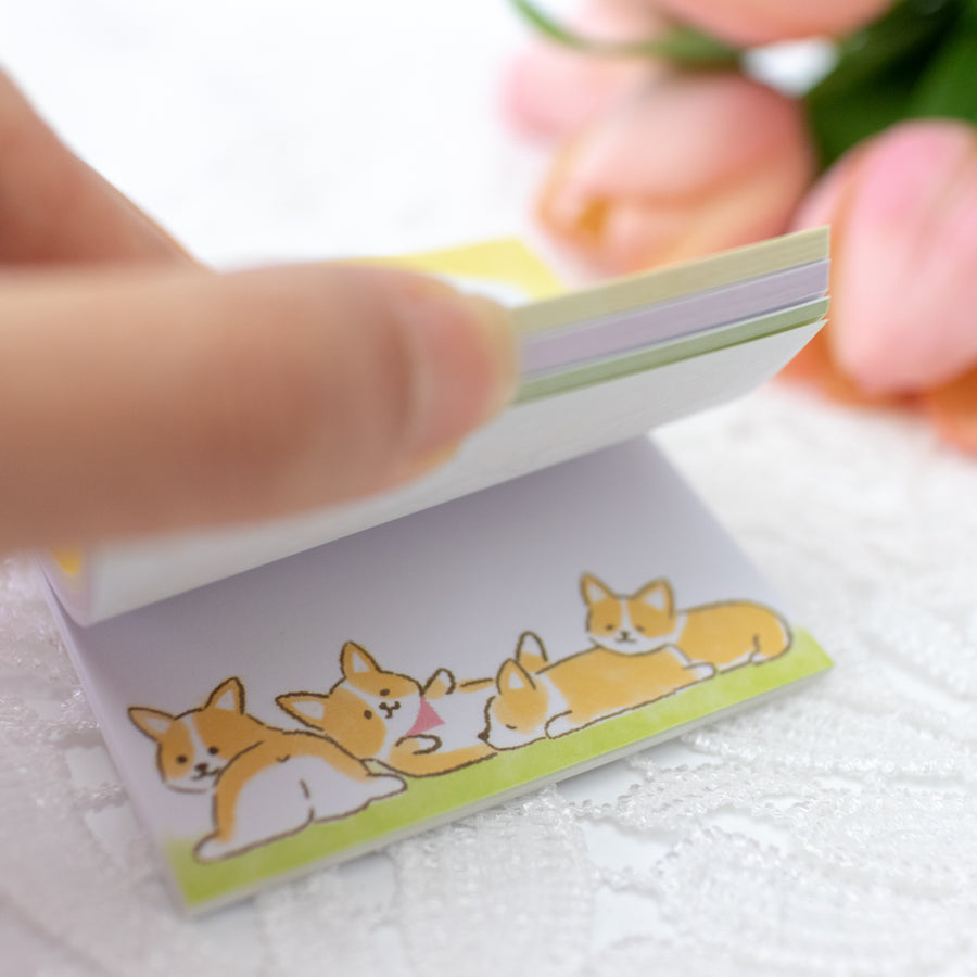 Corgi Sticky Notes