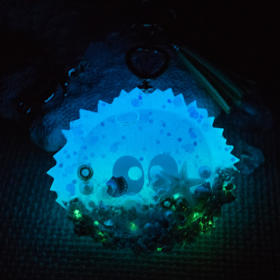 Soot Sprite Liquid Shaker Charm Keychain [Glows in the Dark]