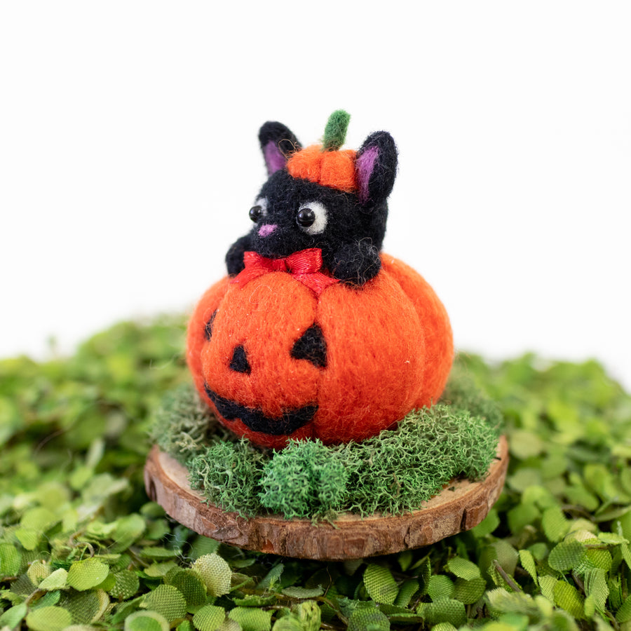 JiJi Cat Pumpkin on Stand