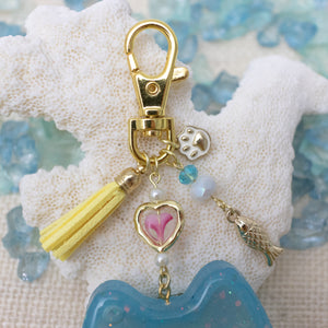 Cat Liquid Shaker Charm Keychain [Glows in the Dark]