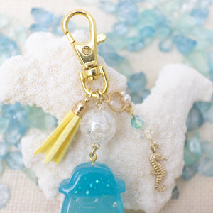 Ramune Bottle Beach Vibe [GLOW IN DARK] Liquid Shaker Charm Keychain