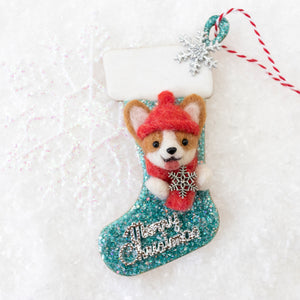Corgi Christmas Stocking Ornaments