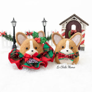 [PREORDER] Holiday Corgi with Swarovski Crystal embellished Bowtie Ornament