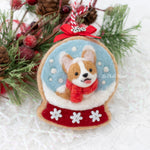 Snow Globe Cookie (with Swarovski Crystals) Ornament