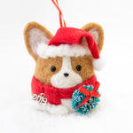 [PREORDER] Santa Corgi with Wreath  Ornament