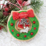 Wreath Cookie (with Swarovski Crystals) Ornament