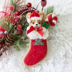 RESERVED FOR CHRISTINA: [PREORDER] Santa Christmas Stocking Cookie Ornament