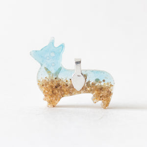 Beach Corgi Pendant Necklace