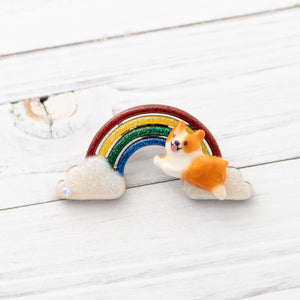 [PREORDER] Corgi Rainbow Brooches