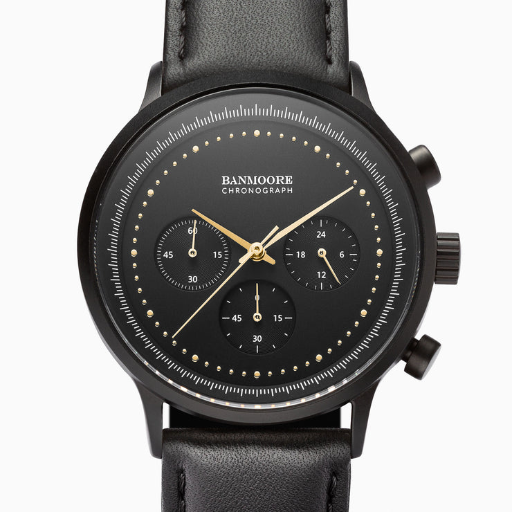 Chronograph I Black Gold - Leather