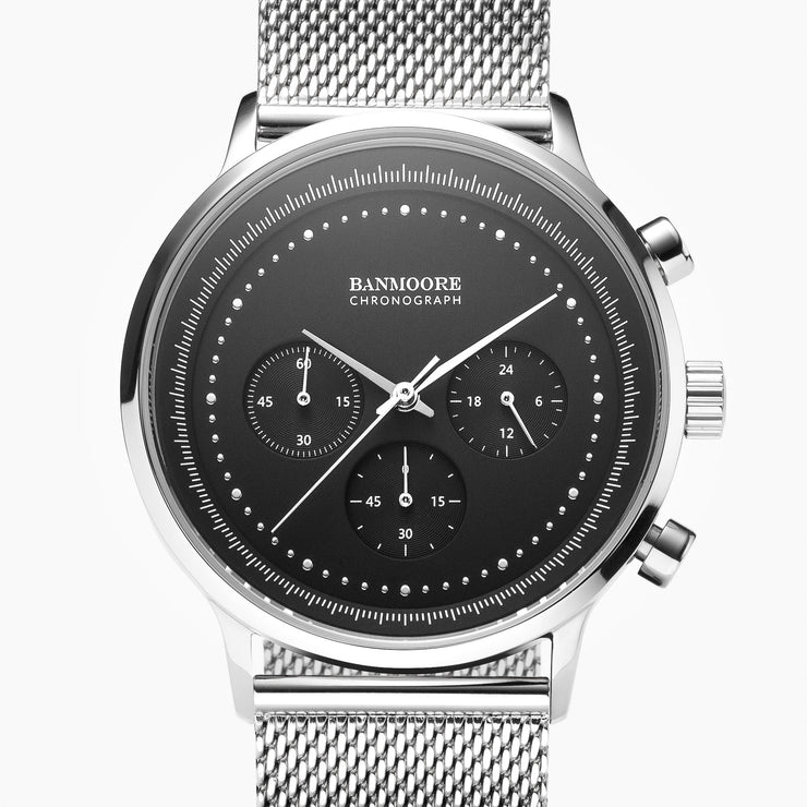 Chronograph I Black - Mesh