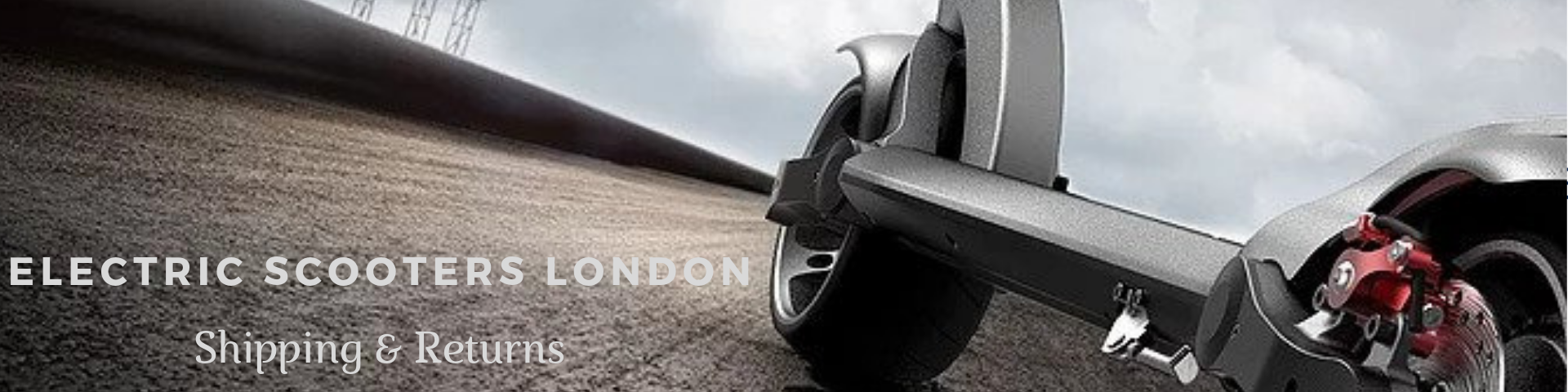 Electric Scooters London Shipping and Return Page Banner