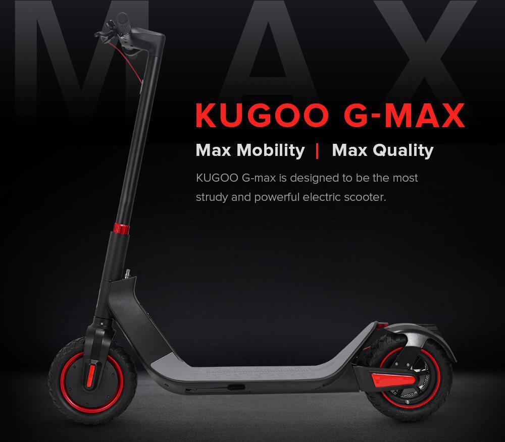 KUGOO G-MAX 500W 10-Inch Wheels Electric Scooter