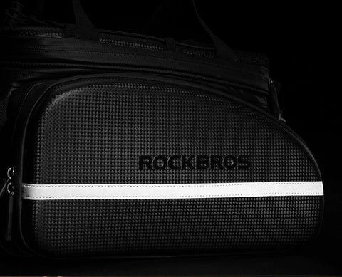 ROCKBROS Waterproof Rack Top Bag With Fold Out Pannier Pockets