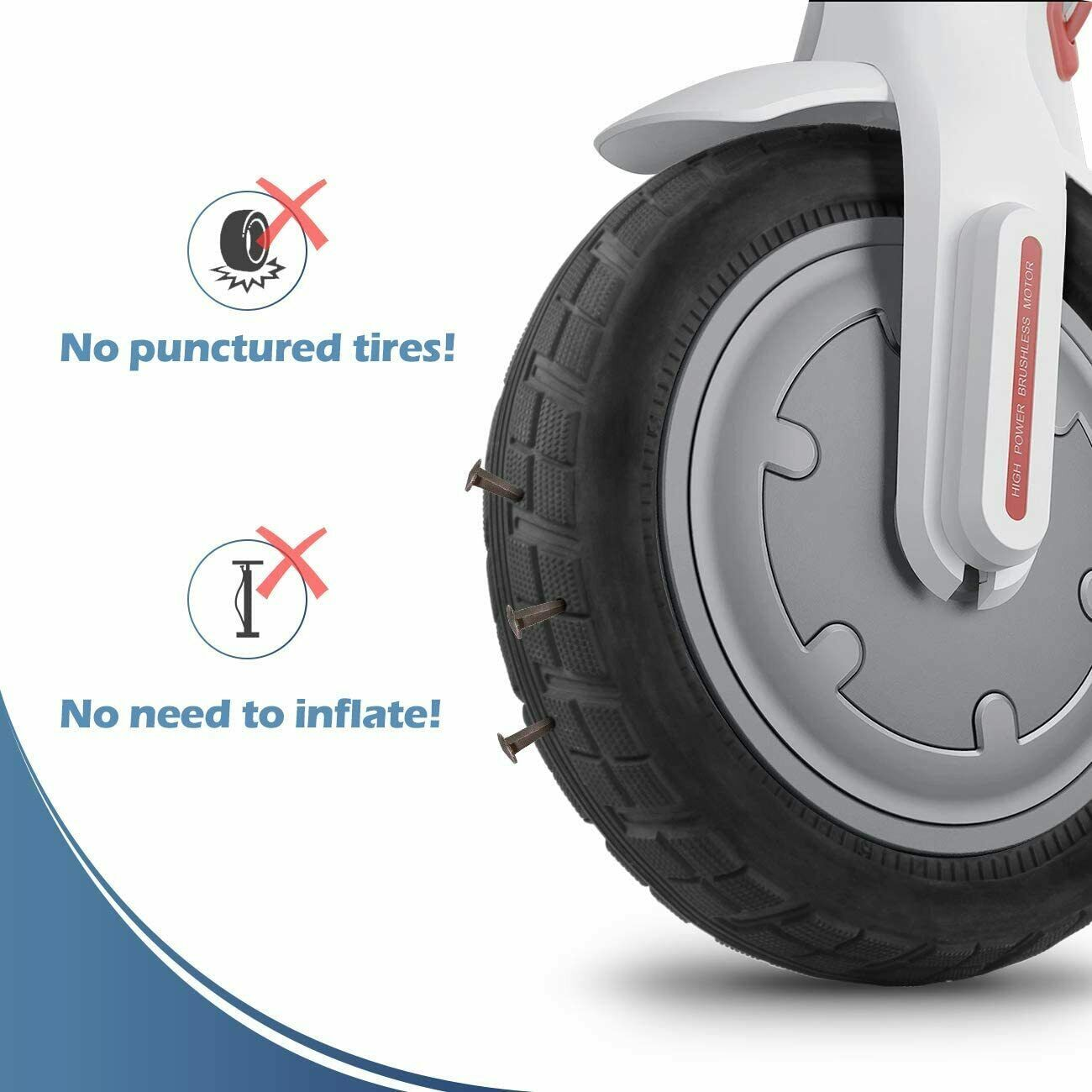 Solid Tyres for XIAOMI M365 Electric Scooter