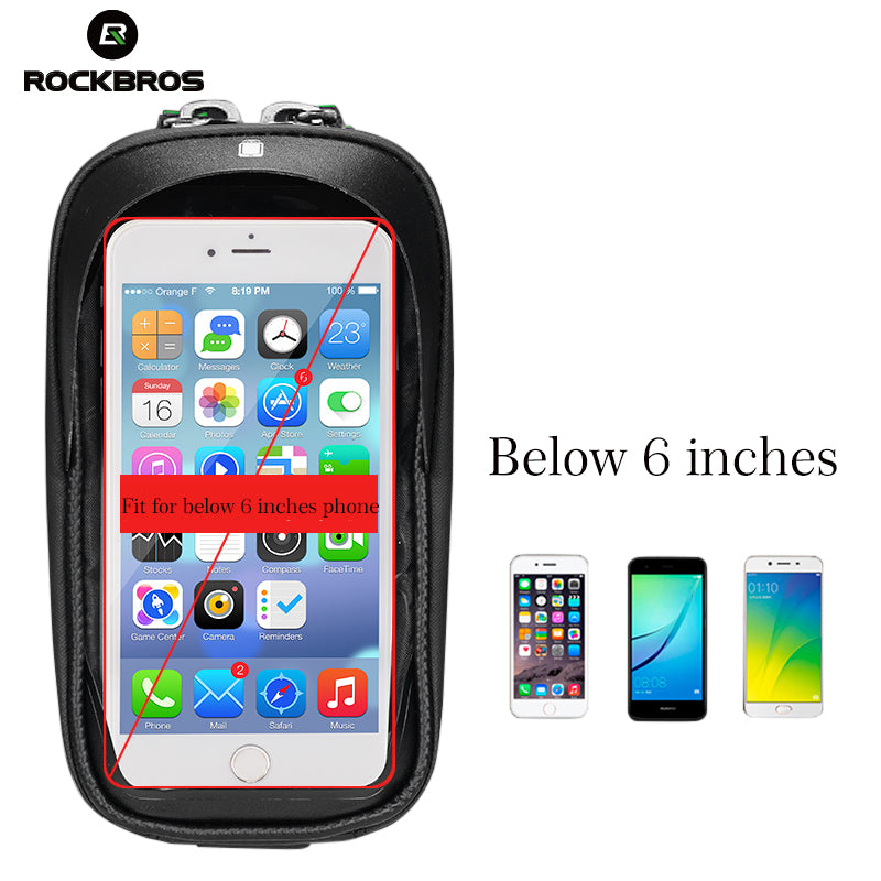 RockBros Waterproof Bicycle Handlebar Phone Holder Case Bag-Electric Scooters London