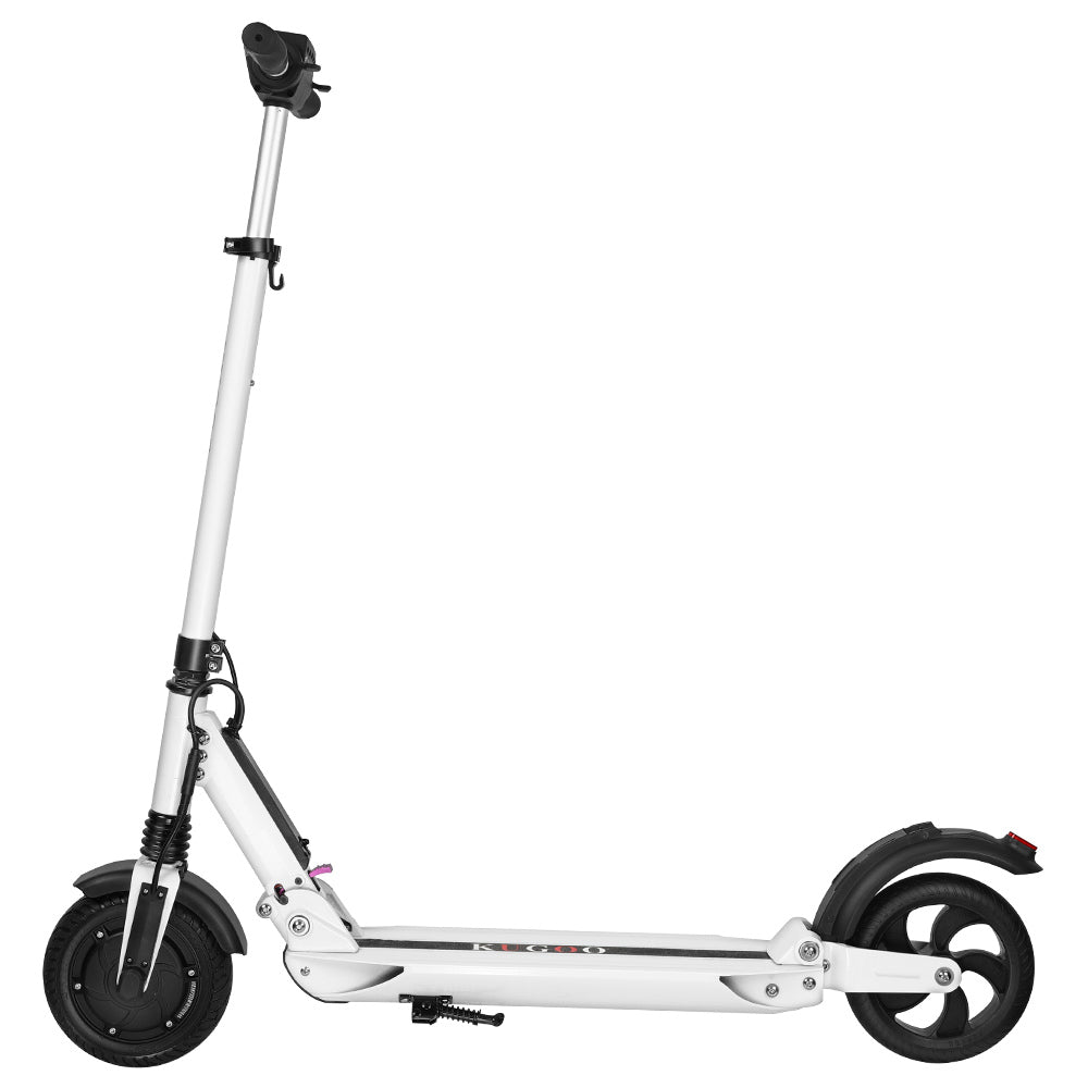 KUGOO S1 Folding Electric Scooter 350W Motor LCD Display - White-Electric Scooters London