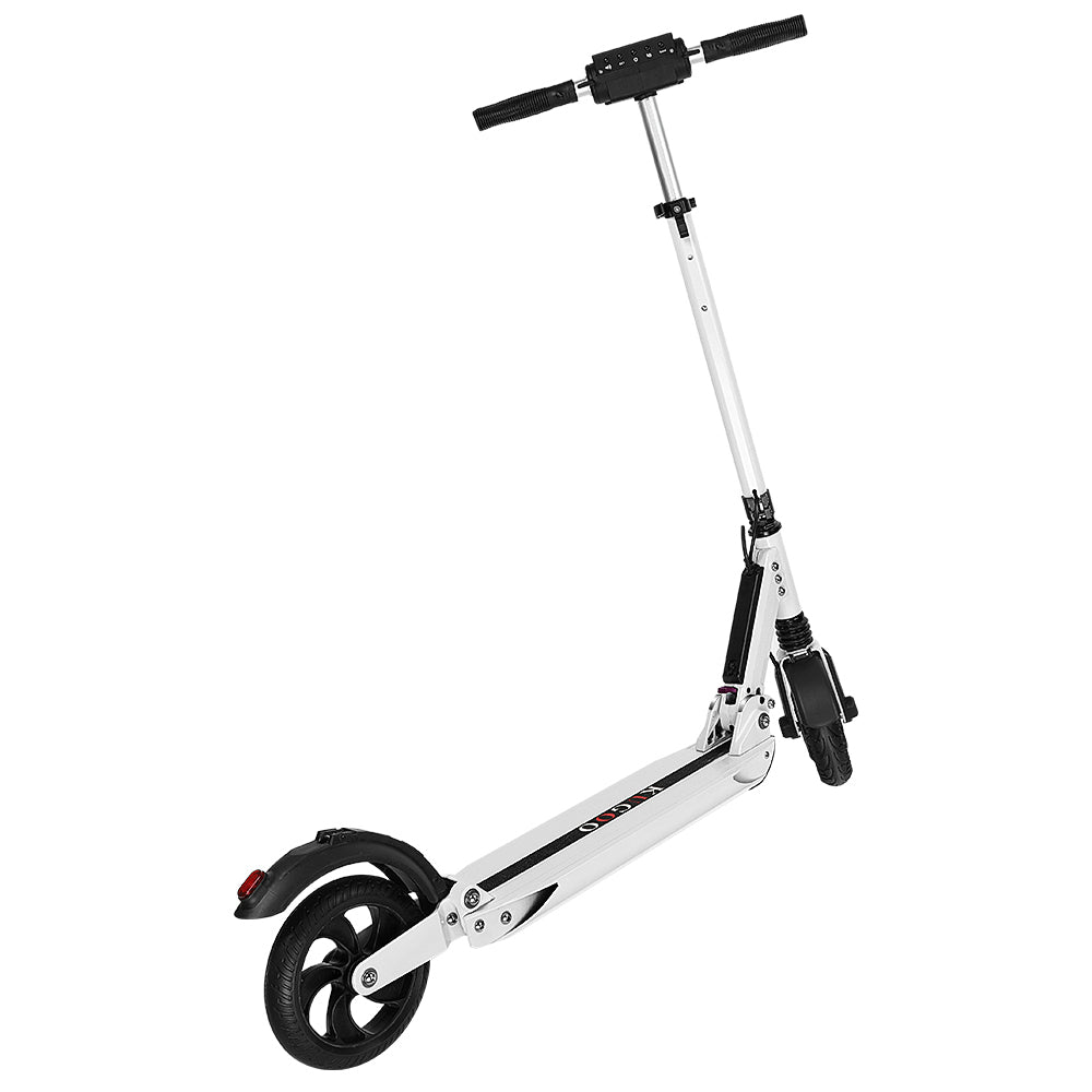 INVICTUS KUGOO S1 Folding Electric Scooter 350W Motor LCD Display - White-Electric Scooters London