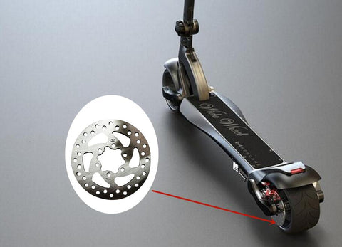 Image of MERCANE WideWheel Electric Scooter Brake Disc – Stainless Steel-Electric Scooters London