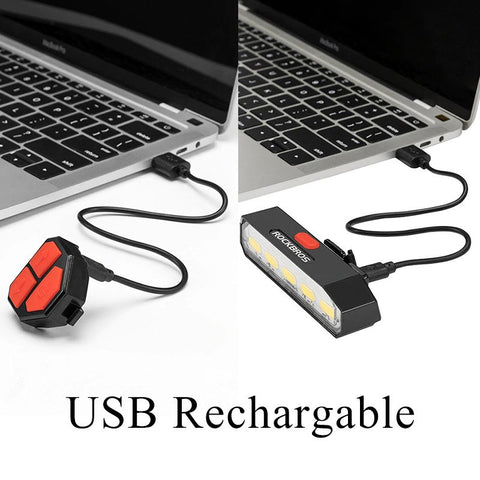 ROCKBROS Wireless COB LED Bike Bicycle Rear Light Indicator Light