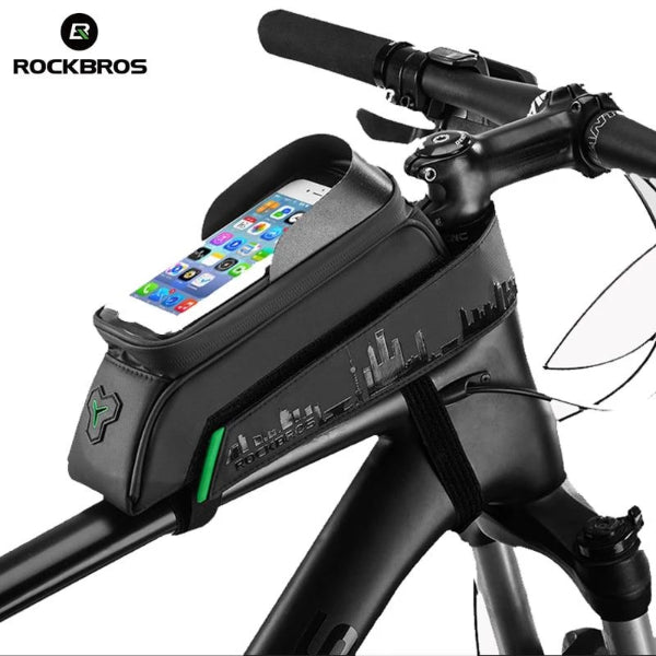 ROCKBROS Front Tube Bicycle Touch Screen Waterproof Bag 5.8/6 Inch Frame-Electric Scooters London