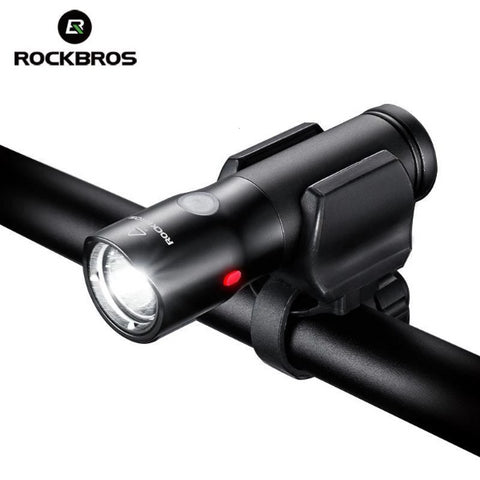 ROCKBROS Bicycle Front Light Power Bank Waterproof USB Rechargeable Bike Light Side Warning Flashlight 700 Lumen 2000mAh 6 Modes-Electric Scooters London