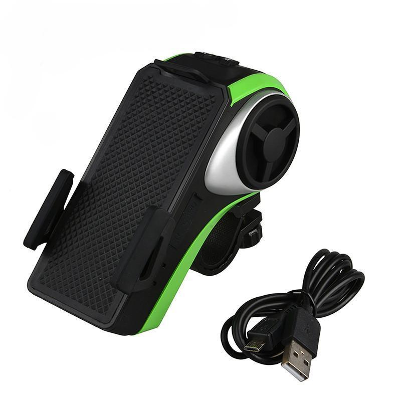ROCKBROS Multi-Function Bicycle Phone Holder Bike Light Bluetooth Audio Powerbank Integrated USB Charger-Electric Scooters London