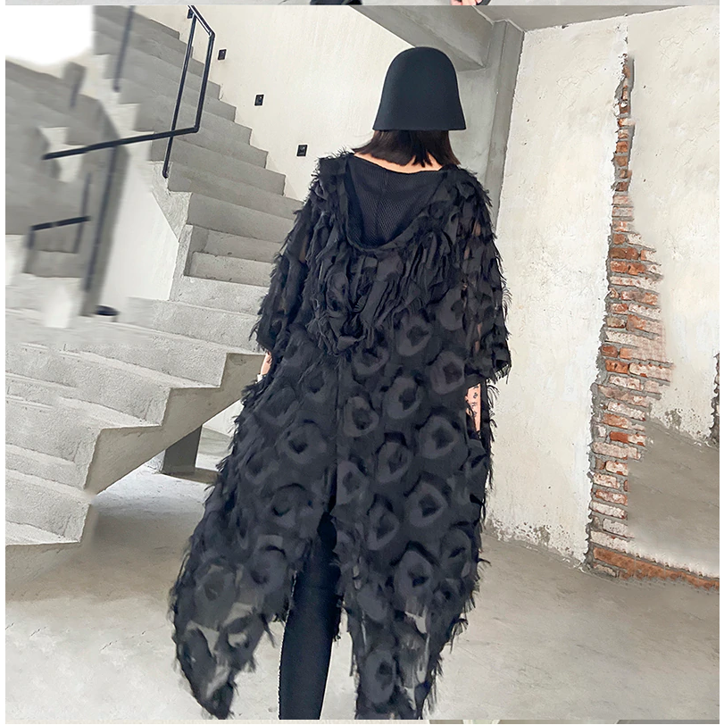 Black Feathered Dress, One Size
