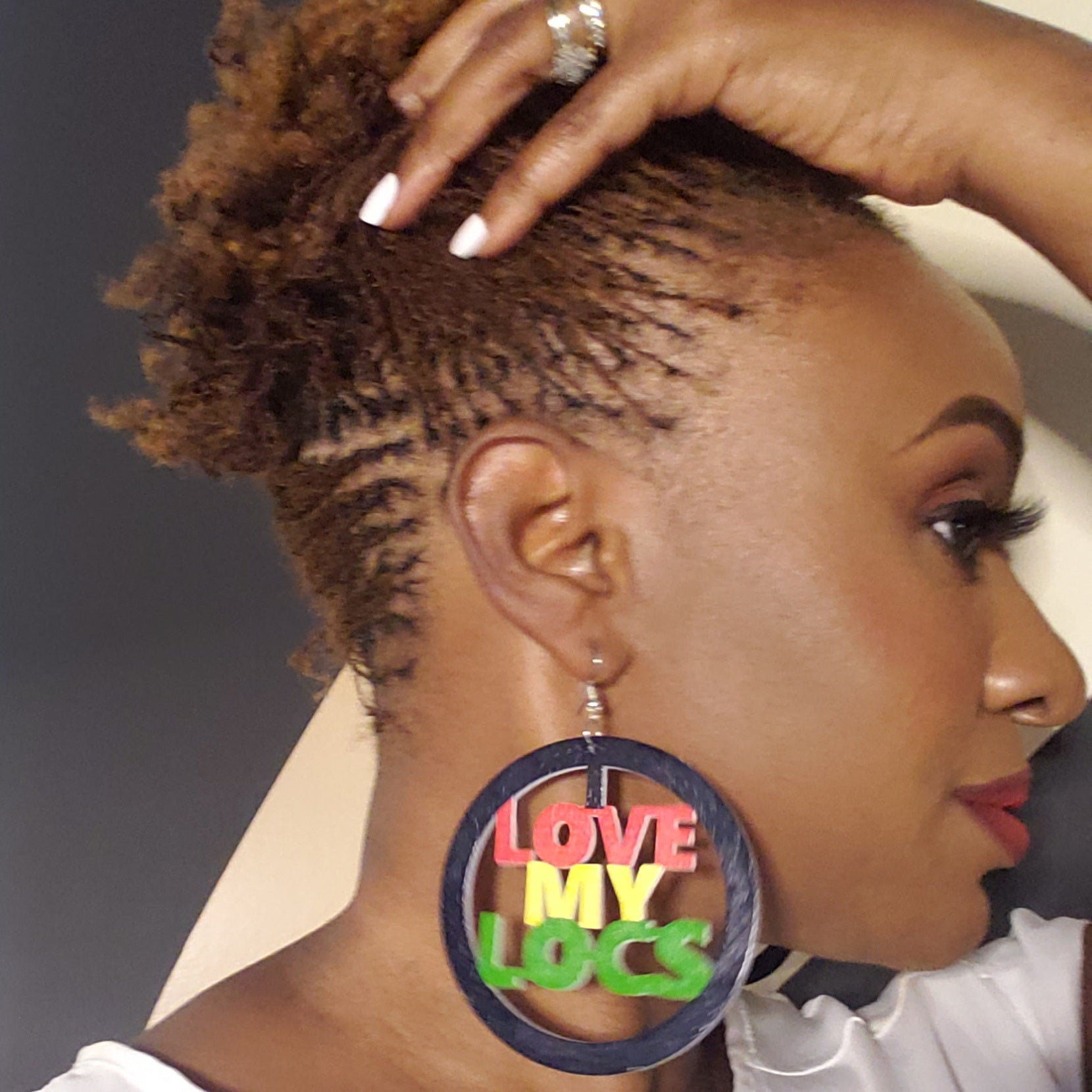 Love My Locs Earrings, Afrobeats Collection