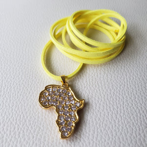 18K Gold Plated Africa Map Necklace, Afrobeats Collection