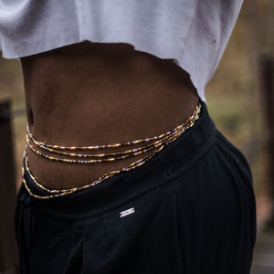 Tie-On Waist Beads, Golden