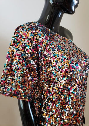Sequin Party Dress, One Size (S to 2XL)