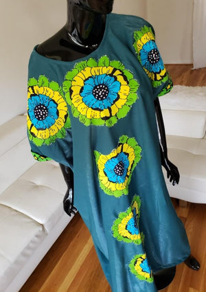 Ankara Patchwork Kaftan, One Size (S to 2XL)