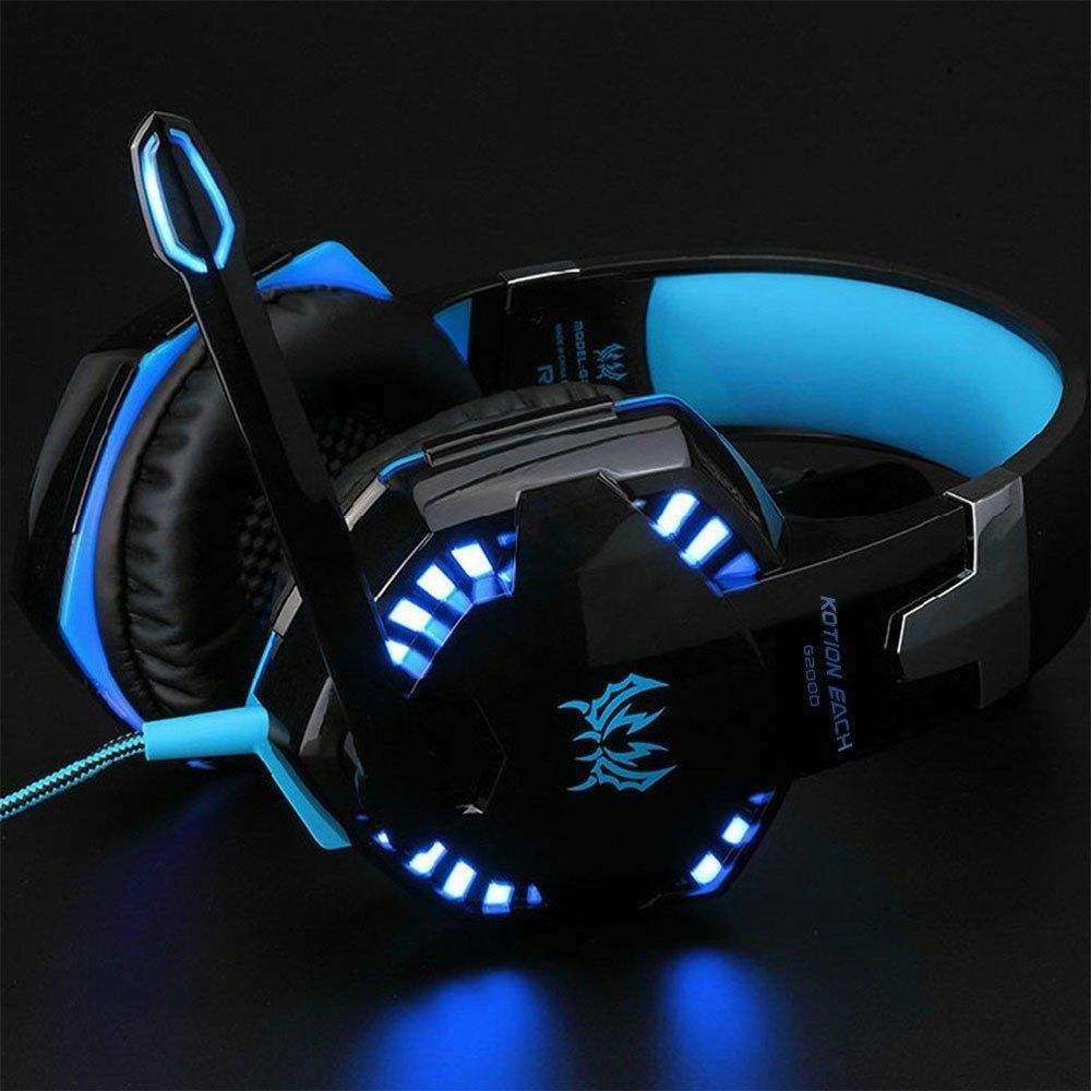 Best Gaming Headset Mic LED Headphones for PC PS4 Xbox ONE 360E