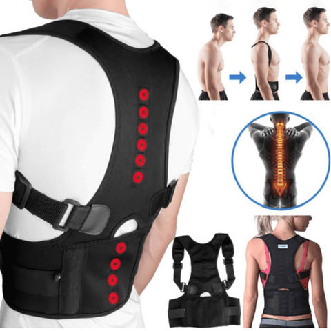 Image of 54% OFF Back Brace Posture Corrector | Best Fully Adjustable Support Brace | Improves Posture and Provides Lumbar Support | For Lower and Upper Back Pain | Men and Women