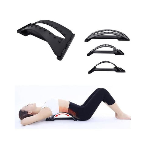Image of Multi-Level Back Stretching Device,Back Massager Lumbar Support Stretcher Spinal Pain Relieve Back Pain Muscle Pain Relief